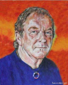 Chris at 70 - portrait by Hans Veen